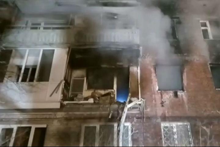 Пожар после взрыва газа вжилом доме вОмске потушен